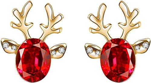 2021 Christmas Stud Earrings, Antler outlet online sale Deer online Earpin,Alloy Jewelry for Women,Christmas Stocking Gift online sale