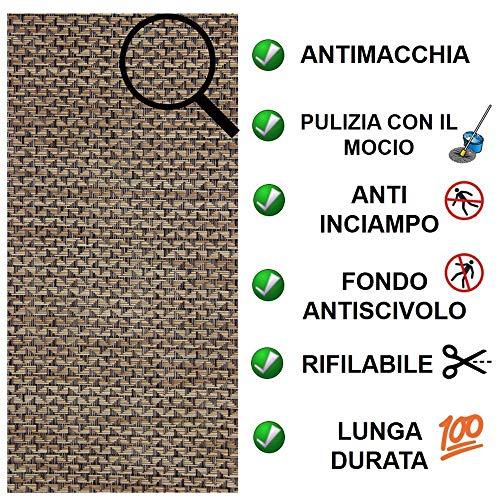 Tappeto passatoia Cucina Lavabile Lucy - antimacchia e Antiscivolo aderisce Perfettamente a Terra Non Piega Si pulisce con straccio - tappeti casa Moderno (50X300, 16)