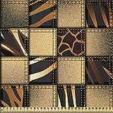 ABAKUHAUS Safari Microfaser Stoff als Meterware, Jeans