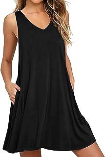 CNFIO Donna Vestito Casuale Abito Manica Lunga Stampa Leopardo Rotondo Collo Vestiti Midi Dress
