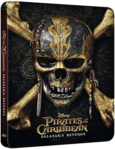 Pirates of the Caribbean Salazar's Revenge Steelbook 3D UK Exclusive Limited Edition Steelbook Includes 2D Version Blu-ray Region Free