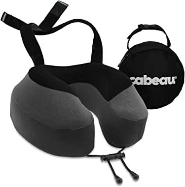Cabeau Evolution S3 Neck Support Pillow - Neck Pillow for Traveling - Memory Foam Airplane Pillow - Neck Pillow with Attachme