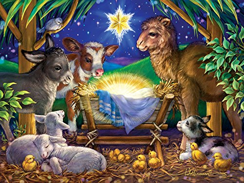 A Child is Born Christmas Jigsaw Puzzle 550 Piece