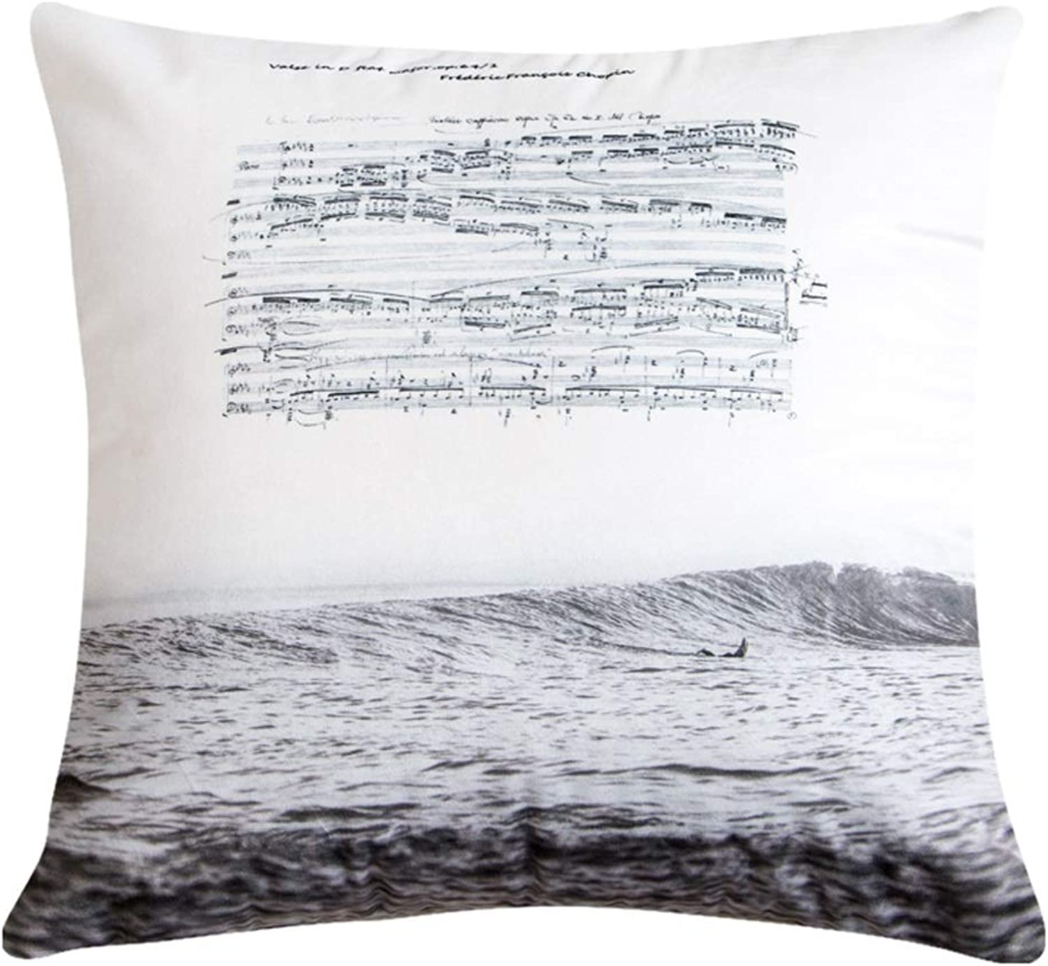 QYSZYG Pillow Velvet Double-Sided Printing Living Room Sofa Pillow Cushion Comfortable Soft Pillow with Core Square Pillow (color   B)