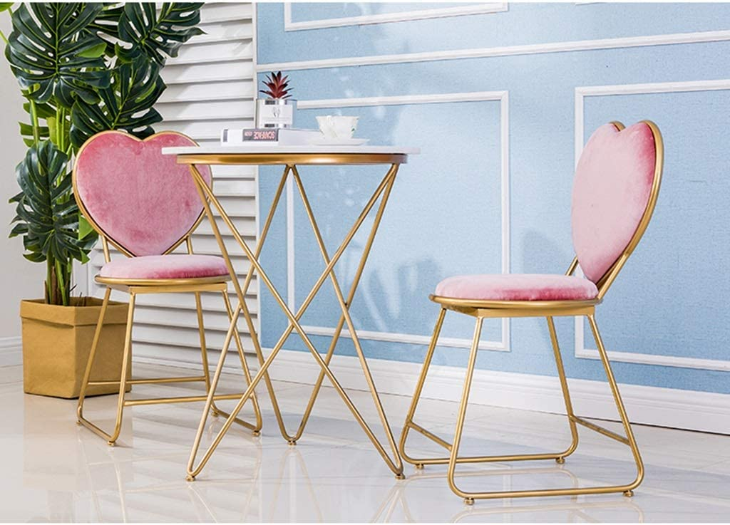 Meubles-Tuqia Chaise en forme de coeur, chaise Tabouret cosmétique Restaurant Café Café Bar Cake Shop Chaise Fille Chaise Chaise Dressing Living Furniture Chaises (Color : #3) #1