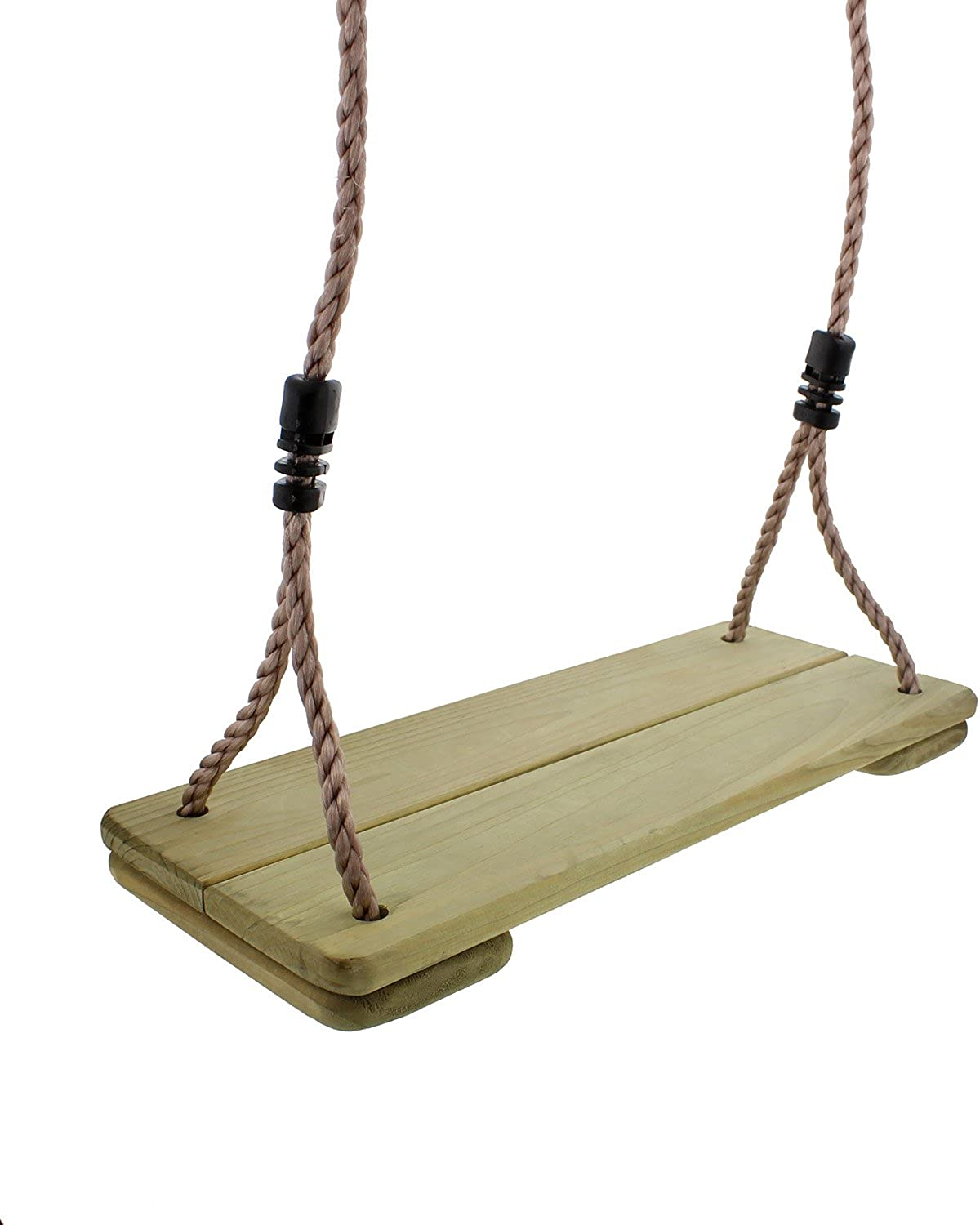 Get Out  Wooden Swing Replacement Seat with 79  Inch Nylon Adjustable Rope for Hanging on Indoor Outdoor Frame or Tree