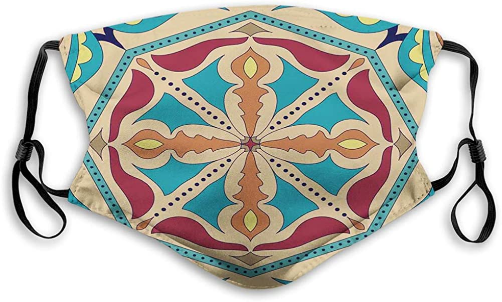 Fillter Face Cloth For adults Ethnic Azulejo Fashionable with Talavera Same day shipping Ottom
