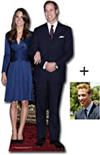 Commemorative Pack Prince William and Kate Middleton - British Royal Wedding 2011 - Lifesize Cardboard Cutout / Standee / Standup - Includes 8x10