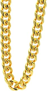 TUOKAY 18K Heavy Big Gold Chain Necklace,16mm 30 Inch Long Big Fake Gold Rapper Chain, Shinny 90s Punk Style Hip Hop Chain Necklace for School Rapper Kit Costume Accessory Costume Jewelry