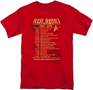 Star Trek T-Shirt RED Shirt Tour Original Series