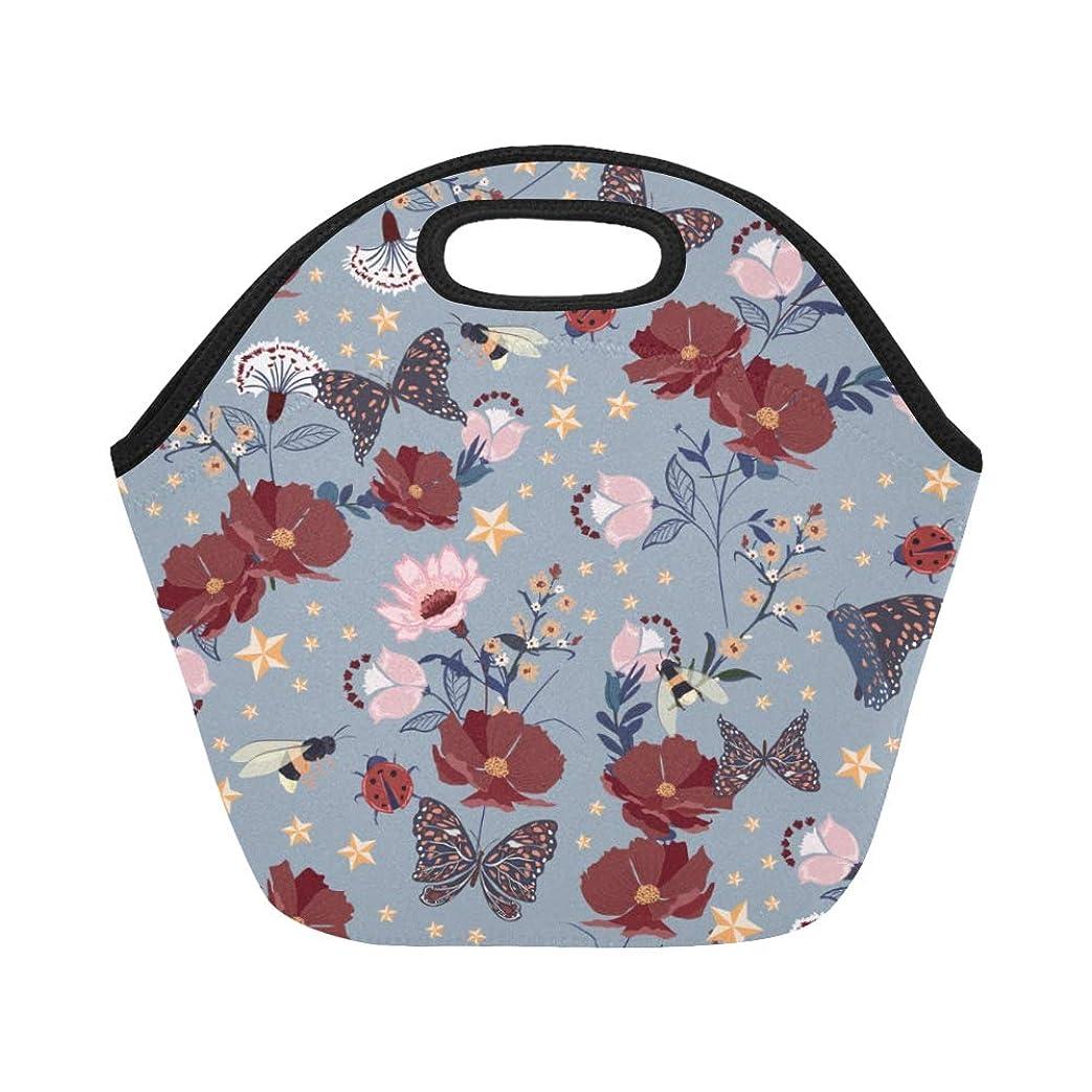 取り出す調和定義DMHYJ ランチバッグ 蝶や星 弁当袋 お弁当入れ 保温保冷 トート 弁当バッグ 大容量 トートバッグ