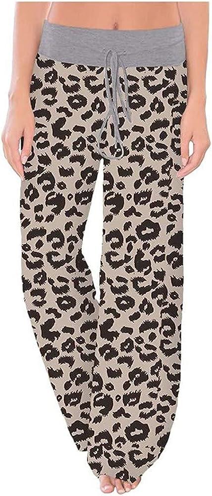 NP Women Loose Pants Casual Wide Leg Pants Long Trousers Sweatpants Pajama