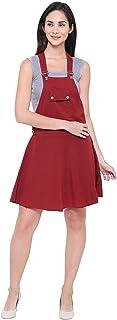 GSAMALL NewTrend Cotton Lycra Dungaree Skirt for Women