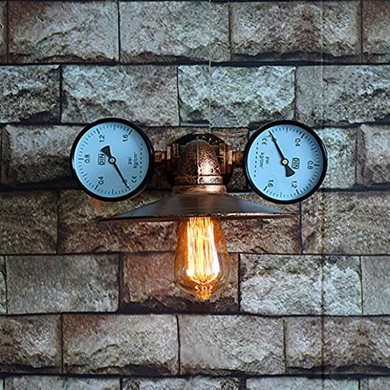 Hines 1-light Vintage Industrial Steampunk Wasserpfeife Wandleuchte Retro Design 2 Wasser Gauge Eisen Metall Wandleuchte Bar Warehouse Hotel Restaurant Wandleuchte