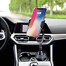 MQOUNY Car Wireless Charger,360 Degree 10w Qi Fast Wireless Charging Cup Phone Holder & Air Vent Car Phone Mount Compatible with with iPhone 11/11Pro Max/XR/Xs Max/Xs/8,Samsung Galaxy Note 10 (Black)