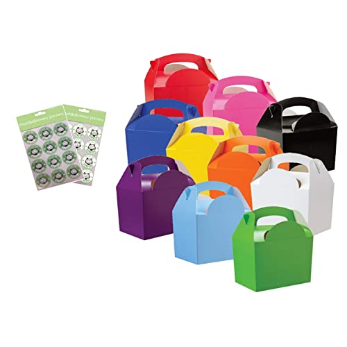 variety of colors 15 x Childrens//Kids Plain Lunch Food Birthday Party Box