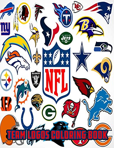 NFL Team Logos Coloring Book: NFL Clubs logos coloring book for kids and adults , Football coloring book , NFL cup ,Football coloring book ,Sports Coloring Book ...