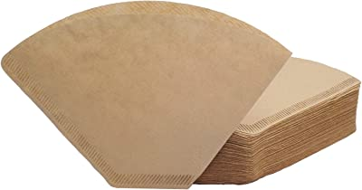 #4 Cone Coffee Filter, Unbleached Natural Paper, No Blowout, Disposable for Pour Over and Drip Coffee Maker, 100 Count