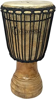 """Hand-carved Classical Heartwood Djembe Drum from Africa - 10""""x20"""""""