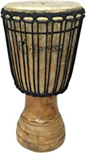 Hand-carved Classical Heartwood Djembe Drum from Africa - 10