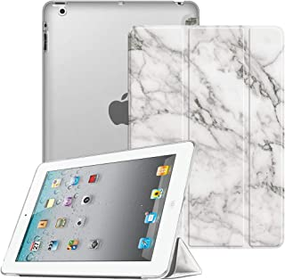 Fintie iPad 2/3 / 4 Case - Lightweight Smart Slim Shell Translucent Frosted Back Cover Supports Auto Wake/Sleep for iPad 4th Generation with Retina Display, iPad 3 & iPad 2, Marble