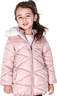 Girls Winter Coats Hooded Sherpa Lined Lightweight Jacket Thick Warm Puffy Waterproof Windproof Cotton Shiny Jackets