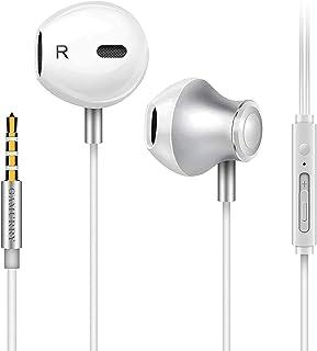 GAMURRY Auricolari,Cuffie con cancellazione del rumore,Auricolare In-Ear Bassi Potenti Alta Definizione con Microfono e Controller, Headset Stereo 3.5 mm per Samsung,Xiaomi,Sony,Huawei etc.