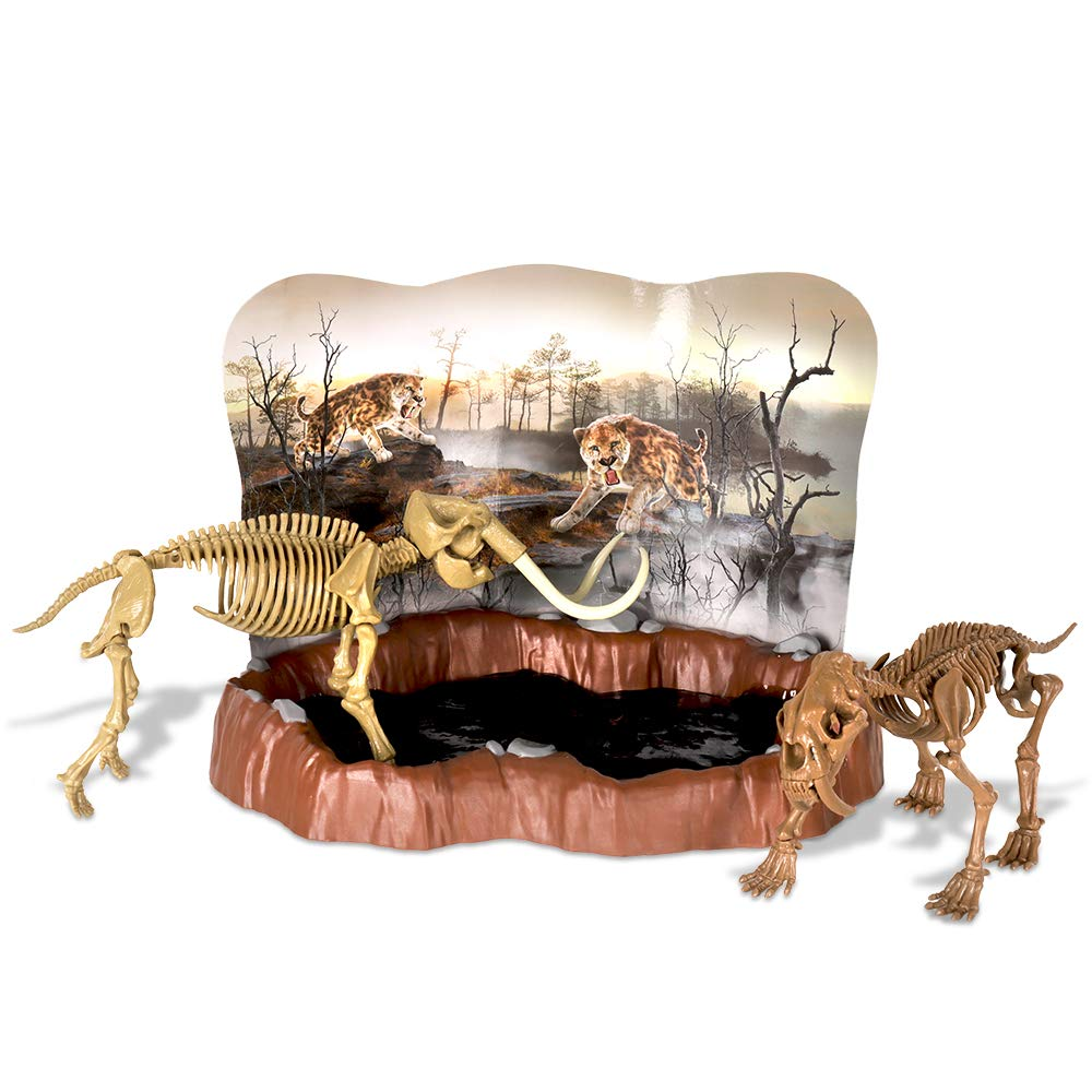 Basic Fun Dr. Steve Hunters Tar Pits Explorer (Saber Tooth Tiger + Mammoth)