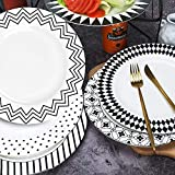 AnBnCn 10 Inches Porcelain Dinner Plates, Large Serving Plate Set, 6-Different Motifs Assorted...