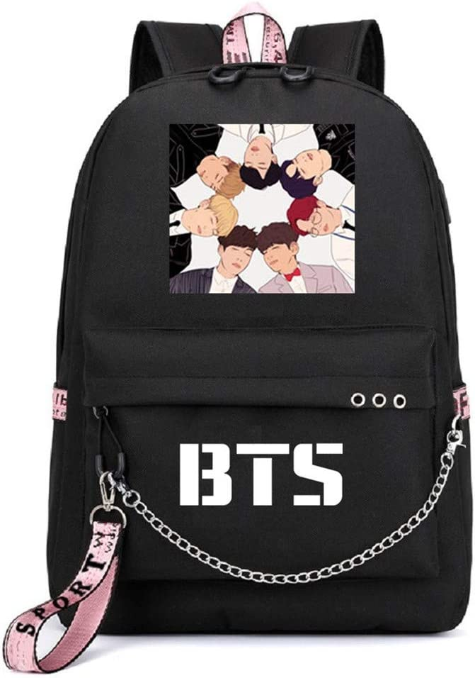 JUSTGOGO KPOP BTS Bangtan Attention brand Boys Daypack with Backpack Max 46% OFF School Bag