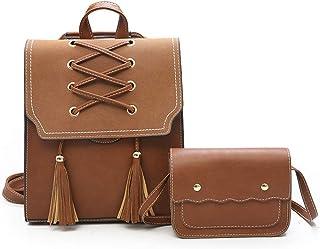 Women Backpack Purse Crossbody Shoulder Bag PU Leather Fashion Backpack Cute Mini Leather Backpack Purse for Women