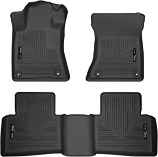 Husky Liners 99381 Fits 2019-20 Nissan Altima Weatherbeater Front & 2nd Seat Floor Mats , Black