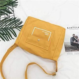 WOONN WOONN Lässige Leinwand One-Shoulder-Handtasche Aus Segeltuch Für Große Studenten, Gelb