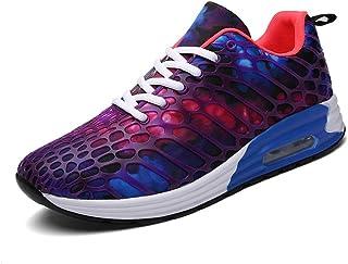 Williess Transpirable Estudiante Deportes Zapatos de Pareja Zapatos de Mujer Versión Coreana De La Marea Cojín Camuflaje Malla Casual Zapatos De Hombre (Color : Púrpura, Size : 44)