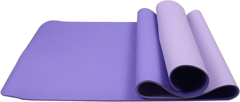 HCOBCO Premium TPE Yoga Mat NonSlip Thick Monochrome Pilates Mat