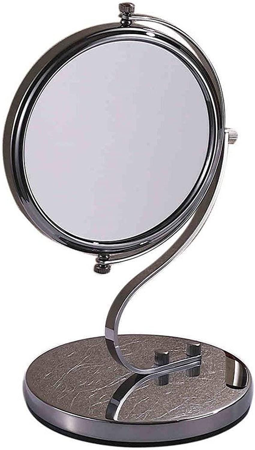Mini Portable Dual Mirror Mirror Mirror of Beauty face Mirror Zoom Telescopic Mirror Appropriate Folding for The Room and The Bathroom