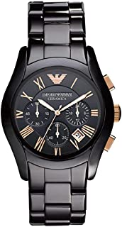 Armani Black Ceramic Black dial Watch for Men's AR1410