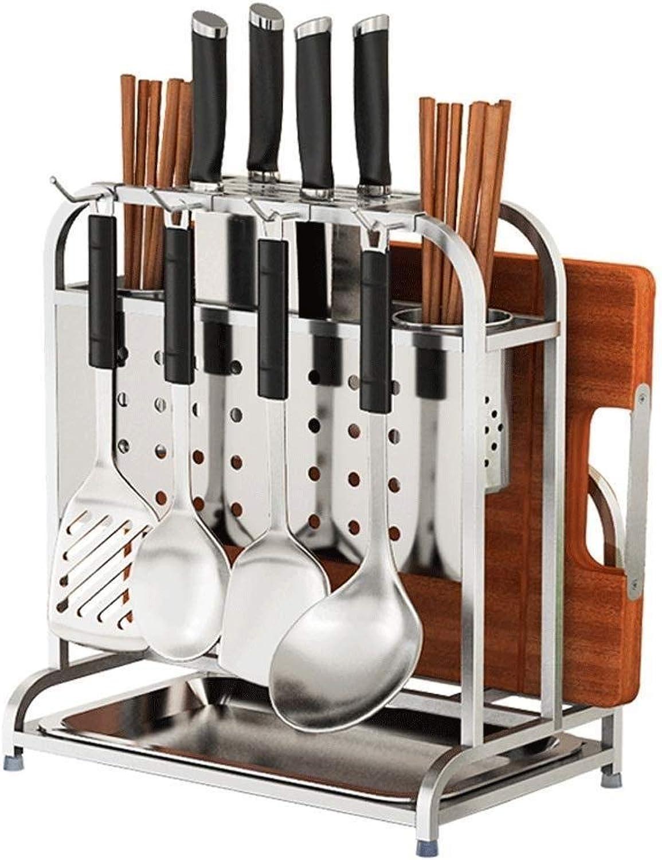 Organizer Rack Knife Holder- Thicken 304 Stainless Steel Knife Holder Cutting Board Frame Widening Cutting Board Cutting Board Cutter Knife Seat Kitchen Rack ZXMDMZ (Size   W18CM)