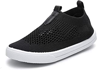 Chiximaxu Kids Slip on Sneakers Breathable Flat Shoes for Running Walking Cycling(Toddler/Little Kid)