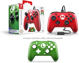 PDP 708056061999 Nintendo Switch Faceoff Wired Pro Controller with 2 Super Mario Controller Faceplates