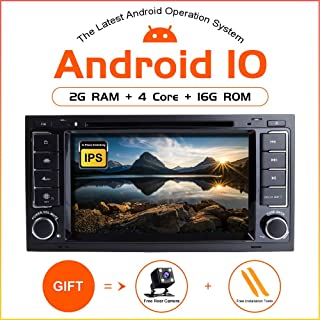 TOOPAI Android 10.0 Car Radio for VW Volkswagen Touareg T5 Transporter Double Din Car Stereo DVD Player GPS with Full RCA Output WiFi OBD SWC