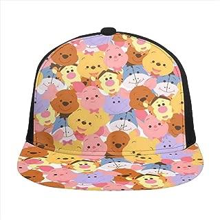 Hip-Hop Flat Baseball Snapback Cap Cap CanvasAdjustable Hat Winnie The Pooh Cartoon Character