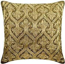 The HomeCentric Designer Cushion Covers, Decorative Cushion Covers 30 x 30 cm Gold, Velvet Throw Pillow Cushion Covers, Ha...