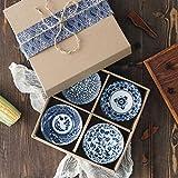 LJYY Cuenco de cerámica Juego de Cubiertos de Porcelana China Vajilla Jingdezhen Vajilla China de Porcelana Azul y Blanca Suministros de Comedor de Cocina, A, B