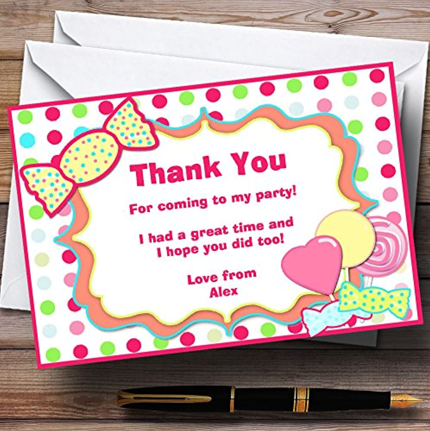 Sweety Tree Personalised Birthday Party Thank You Cards