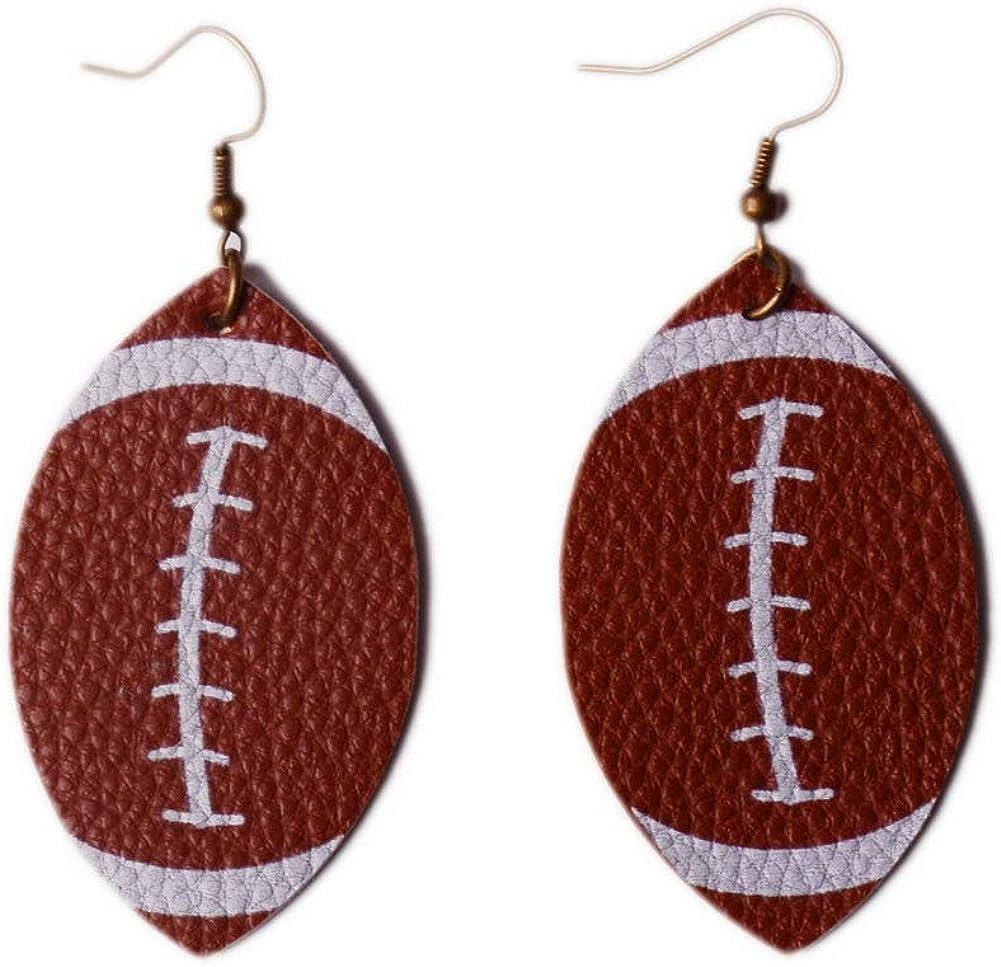LN Award Rainbery Special price Leaf Leather Earrings Earring Faux Teardrop