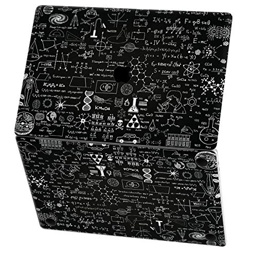 Mertak Vinyl Skin for Apple MacBook Air 13 inch Mac Pro 16 15 Retina 12 11 2020 2019 2018 2017 Keyboard Pattern Print Black Physics Design Wrap Top Trackpad Decal Mathematics Nerd Science Laptop