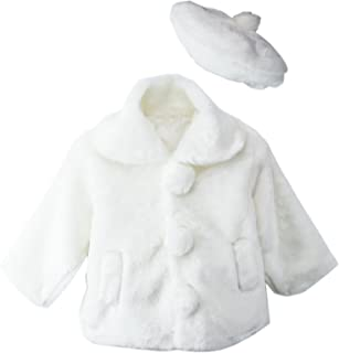 Little Girls Faux Fur Coat with Hat