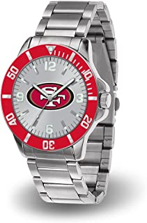 San Francisco 49ERS NFL Key Watch with Stainless Steel Band