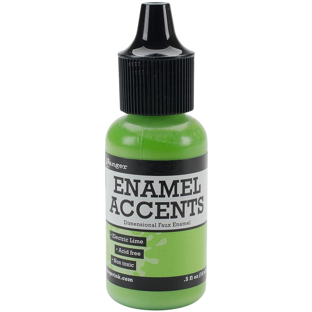Ranger GAC48909 Enamel Accents .5oz-Electric Lime,